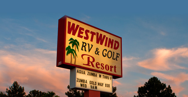 Westwind Entrance Sign