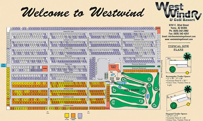 Westwind RV & Golf Resort Map